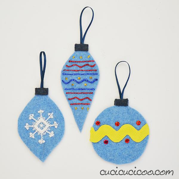 Diy Felt Christmas Tree Ornaments For Kids From Repurposed