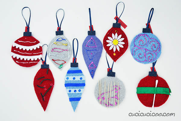 DIY felt christmas tree ornaments for kids from repurposed ...