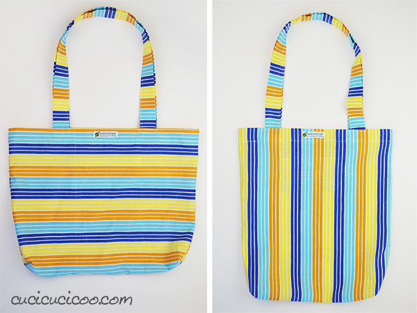 The One Square Tote: an easy tote bag sewing tutorial - Cucicucicoo