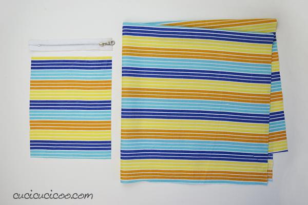 Basta bustine di plastica strappate dal supermercato! Questo tutorial insegna come cucire una sporta della spesa da un solo quadrato di stoffa recuperata! #borsadellaspesa #noallaplastica