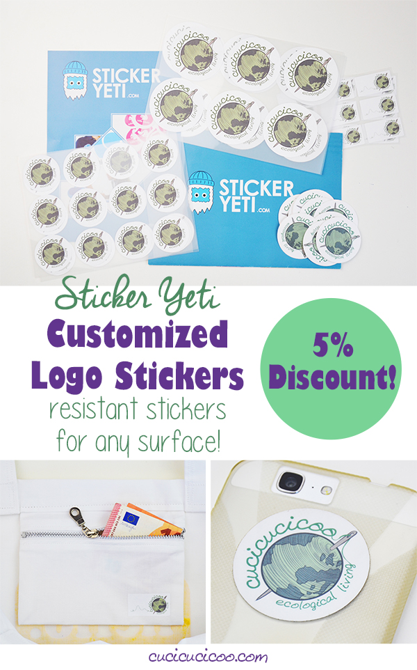 Personalize Sticker Yeti custom logo stickers with your brand and get them printed in all sorts of shapes and sizes. They're super resistant and stick to pretty much any surface, including fabric! #customstickers #logostickers