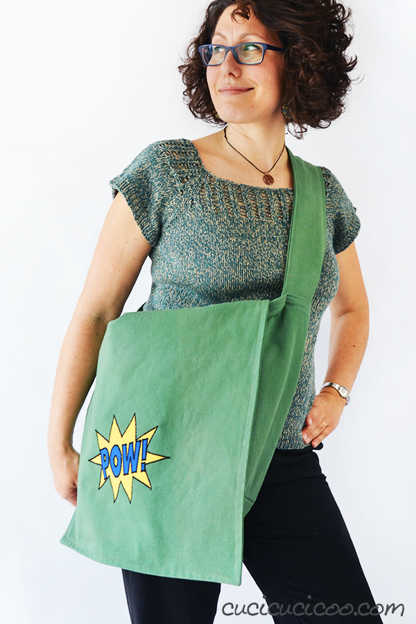 Sewing as a protest against fast fashion: the Yo Mango handmade magic bag for shoplifting from international chain stores violating human rights and the environment. #magicbag #handmadebag