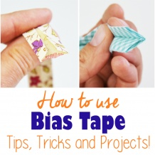Learn how to use bias tape, one of the most useful sewing notions! Find out how to make it and various ways to use it, with free projects, tutorials and patterns! #biastape