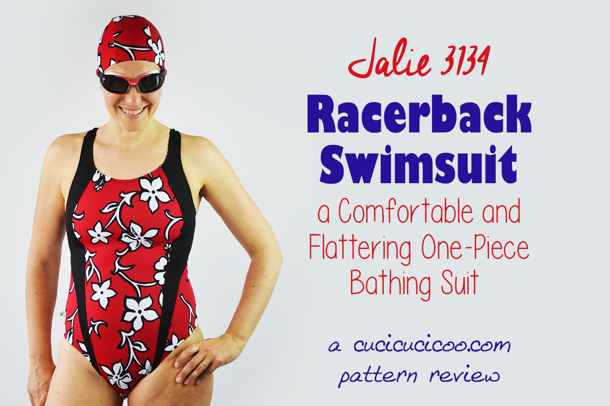 Serious swimmers need comfort, but that doesn't mean you need to give up looks! The Jalie 3134 racerback swimsuit pattern fits and flatters sporty ladies' figures! #swimsuitpattern #bathingsuitpattern
