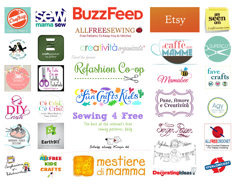 Selection of online media featuring Cucicucicoo.com products and tutorials. Find out more about advertising, sponsor or other partnership opportunities on this sewing and craft blog! #sewingblog #craftblog #craftyblog #indiepatterns