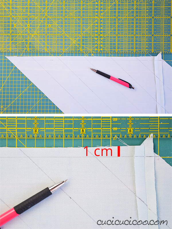 Drawing Lines In Cm Ks : How to make continuous bias tape in one long strip page