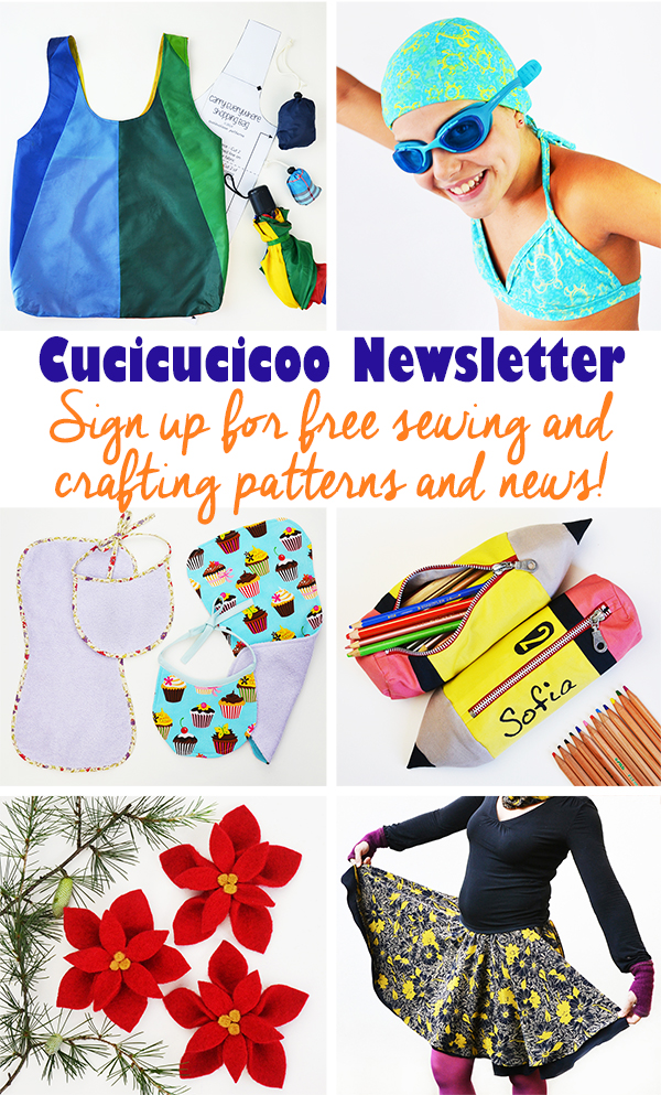 Sign up for the Cucicucicoo Newsletter for free patterns, tutorial and lessons with sewing and crafting news, as well as exclusive access to the private members-only area with free downloads of patterns, templates and so much more! #freepatterns #sewingnewsletter #sewingpatterns #freesewingpattern