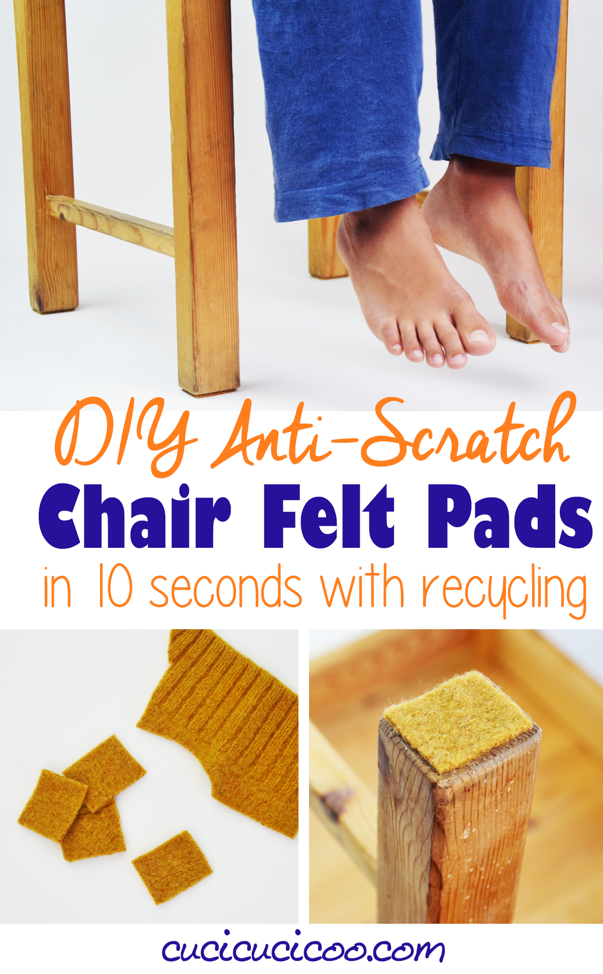 Diy Chair Felt Pads In 10 Seconds With