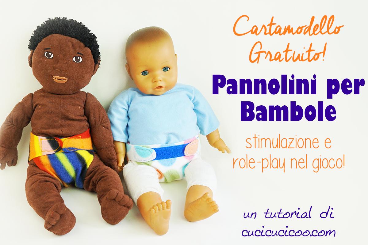 Crea degli accessori divertenti per la bambola o il peluche preferito dei tuoi figli con questi pannolini per bambole fai da te! Con il cartamodello gratuito, è semplicissimo! #pannolinilavabili #giocattolifaidate #cartamodello