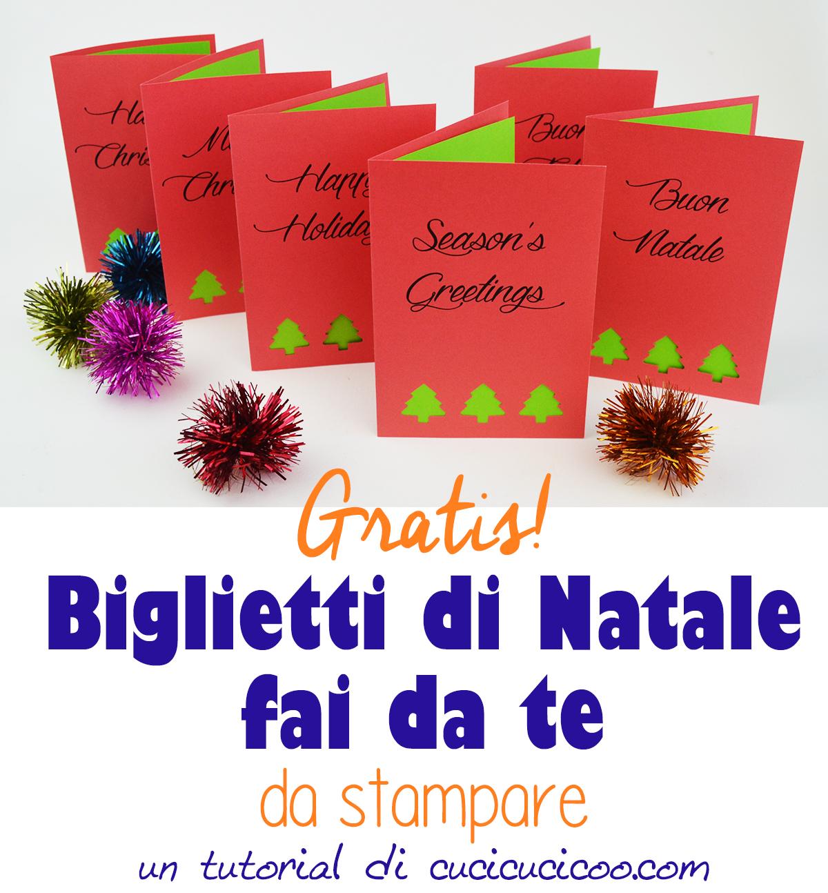 Stampa gratis dei biglietti di Natale fai da te da assemblare in pochi minuti! #bigliettodinatale #auguridinatale