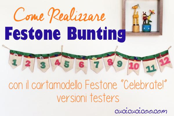 Usa il cartamodello versatile Festone Celebrate! per imparare come realizzare bunting di stoffa o di carta con varie forme, misure e stili! Ecco alcune delle tante varianti personalizzati creati da diversi sarti. #cucicucicoopatterns #buntingdistoffa #festone #ghirlanda
