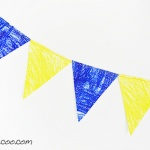 Looking for the fabric banner sewing pattern with the most options? The Celebrate! Banner pattern includes 5 shapes in 4 sizes each, plus 4 sizes of appliqué letters, numbers, shapes and symbols! Customize your bunting to your heart's desire at a moment's notice! #cucicucicoopatterns #diybanner #handmadebanners