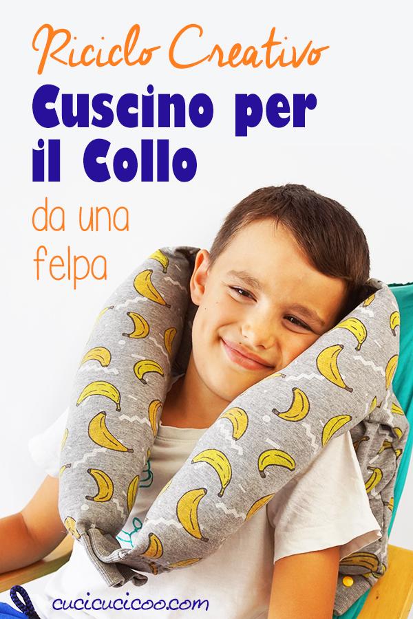 Sembra comodissimo! Come fare un cuscino per il collo con una felpa riciclata in soli 10 minuti! Perfetto per viaggiare comodo o rilassarsi in casa! #cuscino #riciclocreativo