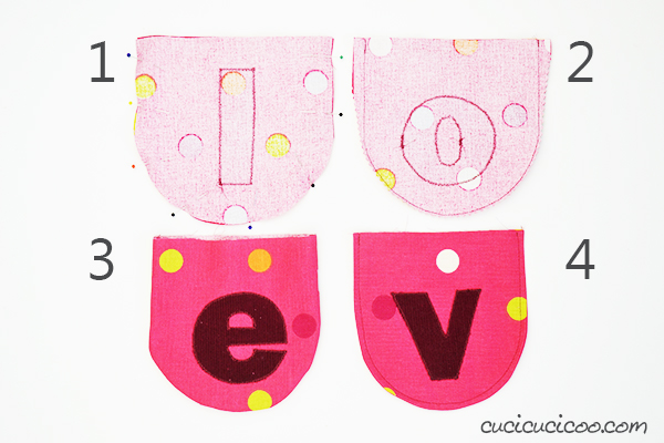 "This is so cute! Learn how to sew a fabric Valentine's Day banner for your home with scraps and bias tape for the best handmade decoration that says ""I love you!"" #valentinesdaysewing #vdaysewing #valentinesdaybanner #vdaybanner"