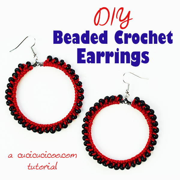 How funky are these handmade accessories?! Make super easy and fast DIY beaded crochet earrings. Beginner level, great way to add pizzazz to your outfits and a perfect gift for your favorite lady! #diybeadedearrings #crochetearrings