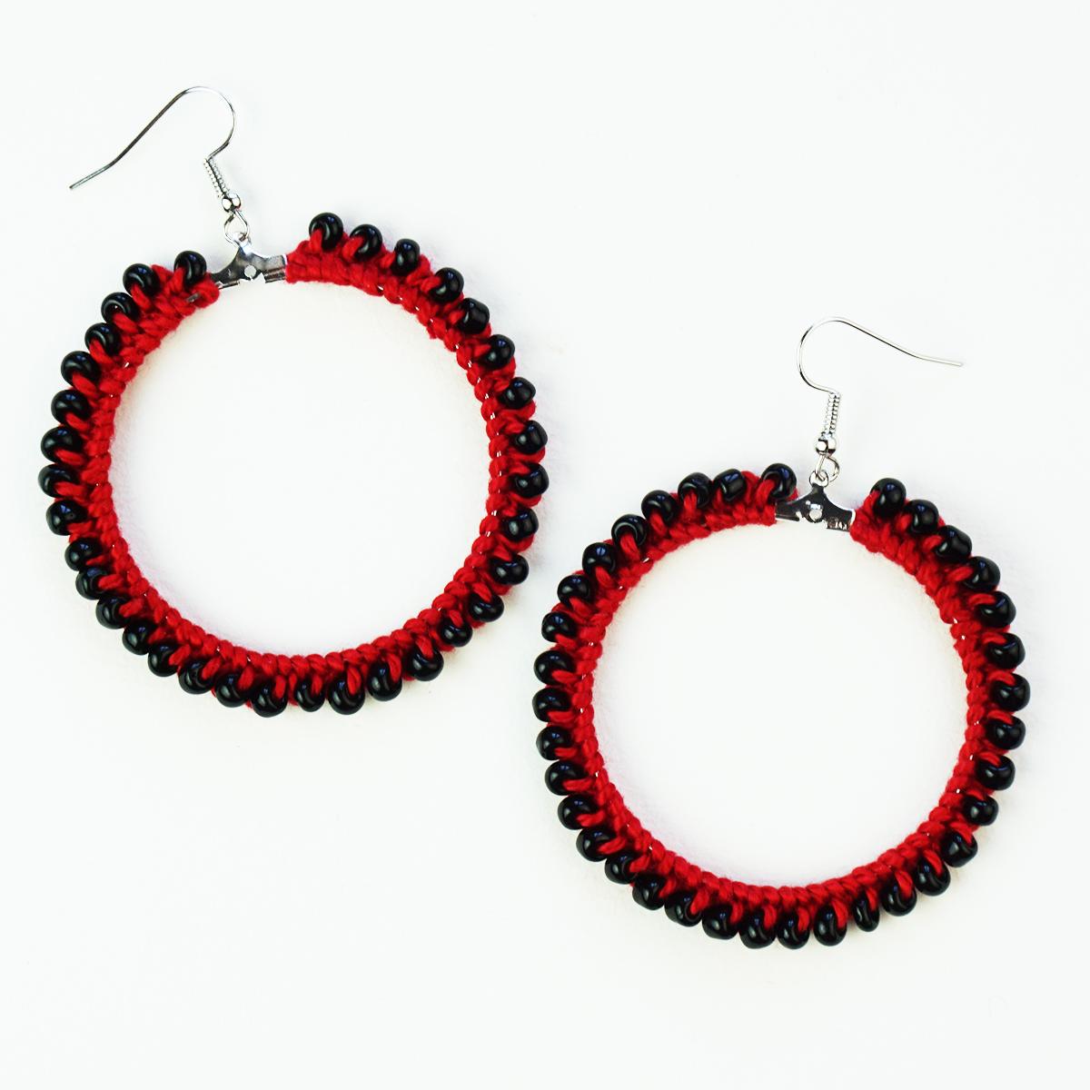 Diy Beaded Crochet Earrings Tutorial Cucicucicoo