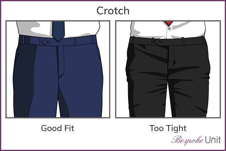 Learn how to adjust the crotch in pants for a perfect fit! Simple pattern alterations avoid pulled or baggy fabric along your bum or crotch curves, making you look the best you can! - modifying the front crotch curve to avoid pulled fabric - #patternadjustment #crotchcurve
