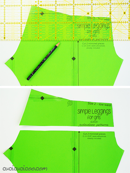 Learn how to adjust the crotch in pants for a perfect fit! Simple pattern alterations avoid pulled or baggy fabric along your bum or crotch curves, making you look the best you can! - adjustment to lower rise - #patternadjustment #crotchcurve