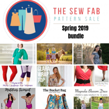 Sew loads of warm weather patterns with the amazing Sew Fab 2019 spring sewing pattern bundle! Everything you need for this season's dresses, leggings, shirts, and bags for women and girls! #sewfab #patternbundle
