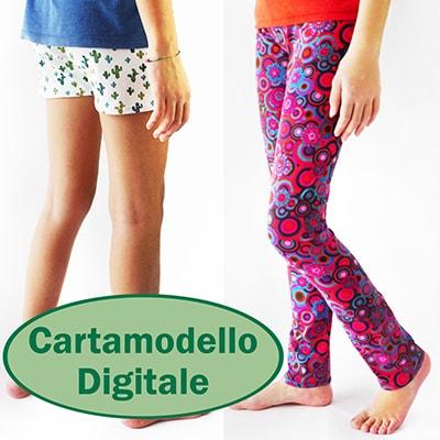 Con il cartamodello PDF leggings bambina Simple Leggings per Bambine, potrai riempire la guardaroba di tua figlia con tanti vestiti handmade unici! Semplici da cucire, anche per il principiante, in 20 minuti. Tante opzioni e si stampa a casa! #cartamodellopdf #cartamodellocucito