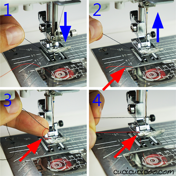 Got a new sewing machine? Save yourself much frustration and learn how to pull up the bobbin thread! This avoids a common beginner's mistake that leads to tangled and broken thread! #bobbin #sewing101