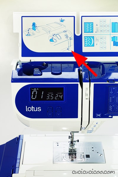 The new Elna Lotus is a beginner sewist's elecronic machine, revisiting a classic piece of modern design. This tutorial on threading Elna Lotus sewing machine, with its unusual shape and thread spool position and layout, will get your ready to sew! #elnalotus #threadingsewingmachine