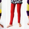 Sew your daughter trendy clothes with the Hyacinth Moto Leggings pattern for girls by Cucicucicoo Patterns! Customize them with different thigh inserts, lengths and waist heights! So cool! #sewingforgirls #sewforgirls #leggingspatternforgirls
