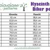 Il bundle cartamodello Hyacinth per leggings biker style da cucire contiene 23 taglie, da anni 2 in su! Leggins trendy per ogni età, da bambina a donna, con opzioni per lunghezza, vita e inserto coscia, ci sono tantissime possibilità per personalizzare il tuo guardaroba handmade! #cucitoitaliano #cucire #cartamodello