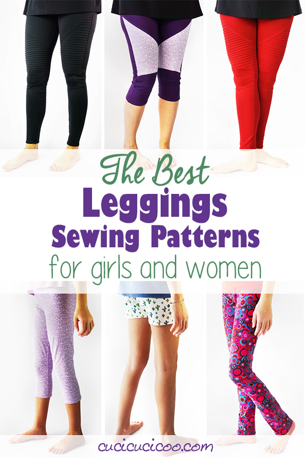 Discover the best leggings sewing patterns for girls and women in 23 sizes, and sew you and your daughter, your sister and your niece, your best friend and her toddler customized handmade classic or moto leggings. The Cucicucicoo Patterns Simple Leggings and Hyacinth Moto Leggings patterns have lots of sizes and options for year-round DIY clothes! #cucicucicoopatterns #clothingpatterns #clothingsewing