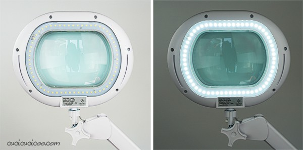 Crafters and sewists, save your eyesight! The LightView XL is the best magnifying floor lamp for sewing and other manual arts. With 225% magnification and bright built in LED lights, creating has never been this easy! #brightech #sewingtools