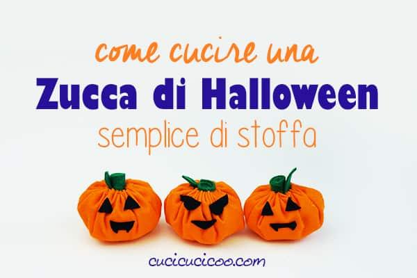 Impara come fare una zucca di Halloween di stoffa. Il tutorial è semplice e veloce, un progetto fai da te di Halloween perfetto per bambini e principianti! #zuccadistoffa #zuccadihalloween