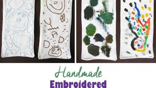 Handmade Bookmark with a Portrait