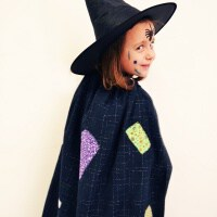 Sew a Witch Cape with a Rectangle of Fabric