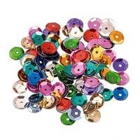 Paillettes, 6 mm, Confezione da 500, Vari Colori