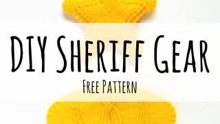 Felt Sheriff Badge and Belt Buckle {Tutorial + Free Pattern}