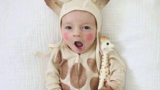 DIY Sophie the Giraffe Baby Halloween Costume
