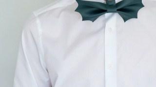 Easy Men's Halloween Costume: DIY Bat Bow Tie