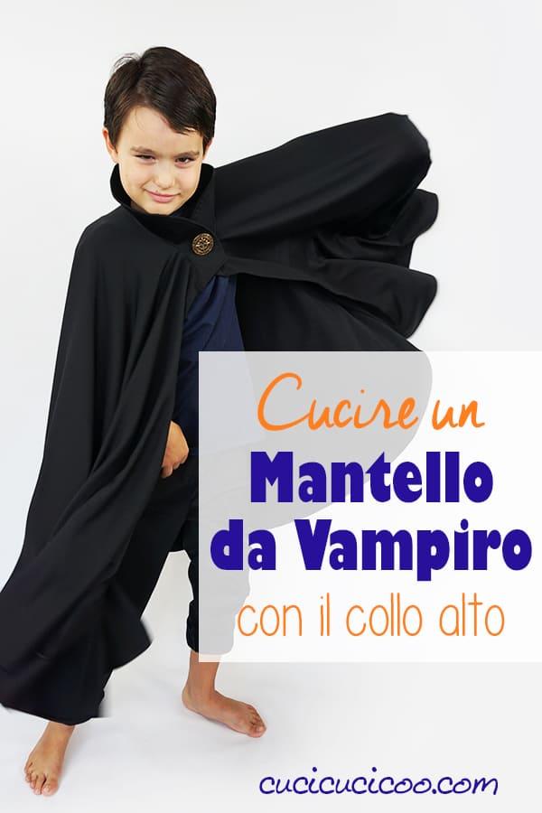 Impara come cucire un mantello da vampiro con collo alto per Halloween! Questo travestimento fai da te è perfetto per ogni età e taglia, e il tutorial è semplice! #vampiro #halloween #travestimento