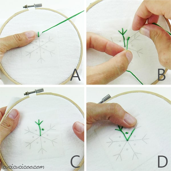 How to embroider a simple snowflake for winter