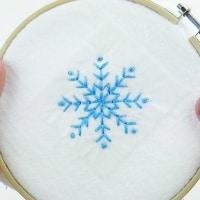 Come ricamare un fiocco di neve in tre modi semplici