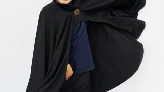Mantello da vampiro con collo alto per Halloween
