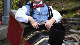 Toddler Hogwarts Express Train Engineer Halloween Costume