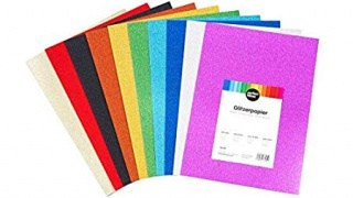 Cartoncino glitter colorato, A4