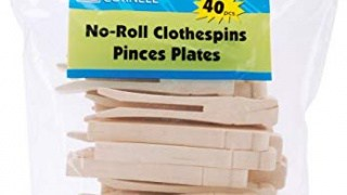 Wood Flat Clothespins