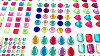 Self adhesive jewels stickers