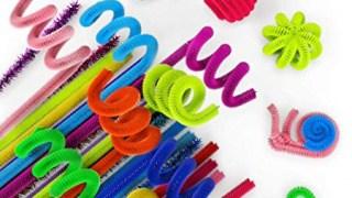 Scovolini in ciniglia, colorati e glitterati