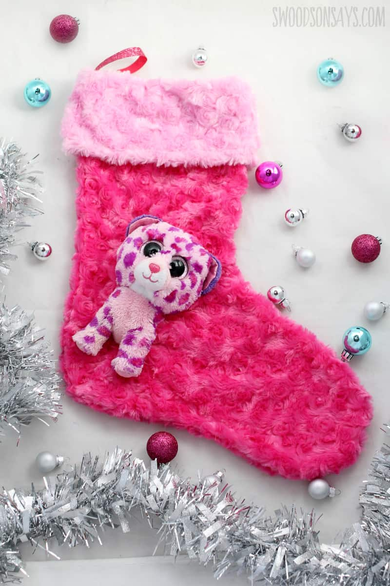 Diy Christmas stocking with an upcycled stuffed animal
