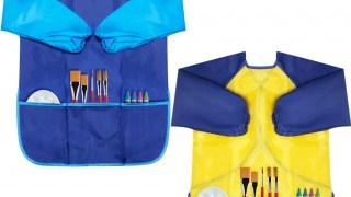 Kids' waterproof art smocks with sleeves