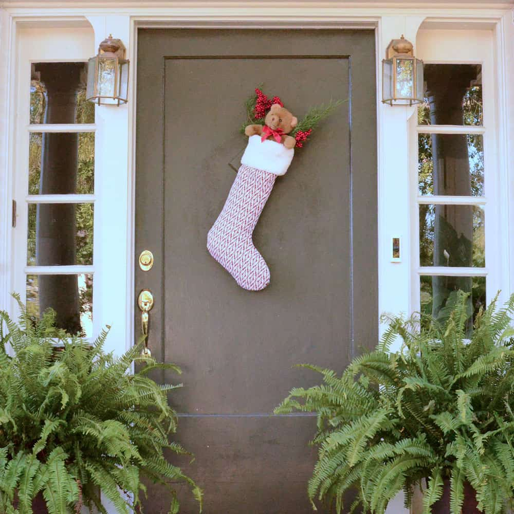 Extra large DIY Christmas stocking to hang from the door