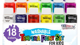 Washable tempera paints for kids
